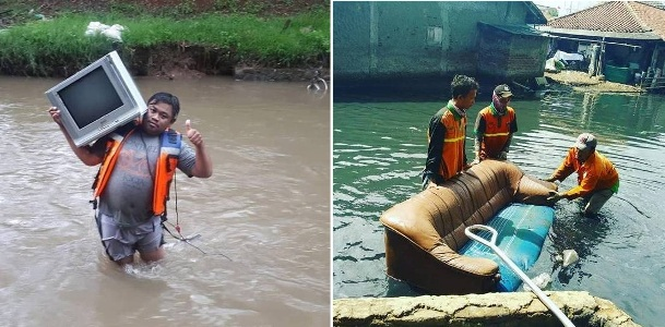 Miris..Inilah Contoh 5 Benda Paling Absurd Yang Ditemukan Di Sungai Ibu Kota Jakarta