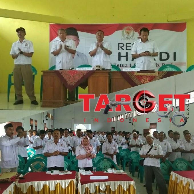 Reses H. Hardi Sekaligus Melantik Pengurus Ranting Partai Gerindra
