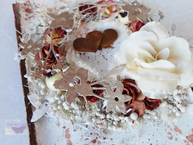 elementy ozdobne -wianek, kwiaty, serca