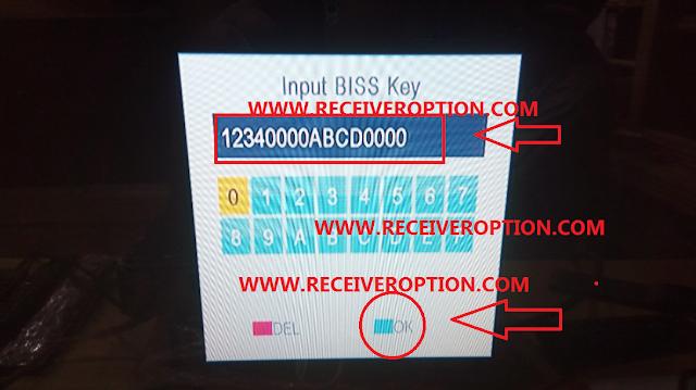 STARGOLD SG-1050HD RECEIVER BISS KEY OPTION