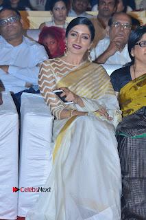 Actress Vimala Raman Stills in White Silk Saree at Om Namo Venkatesaya Audio Launch Event  0003.JPG