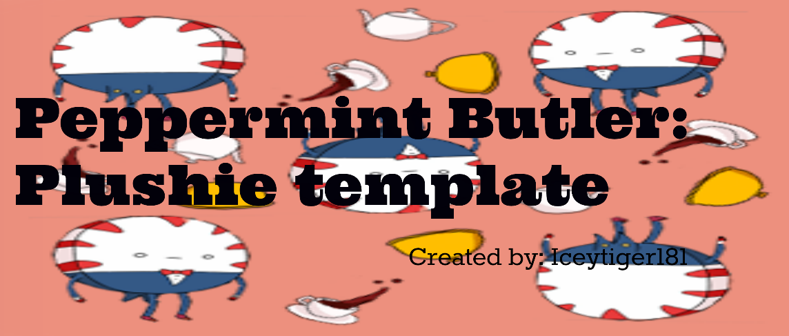 Peppermint Butler Adventure Time Plushie Template