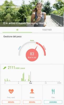 Novità aggiornamento Samsung Health 6.0