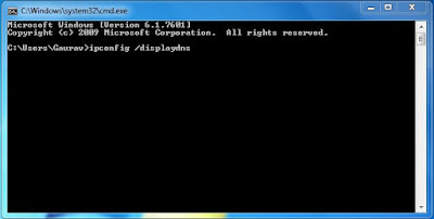 ipconfig /displaydns in Command Prompt