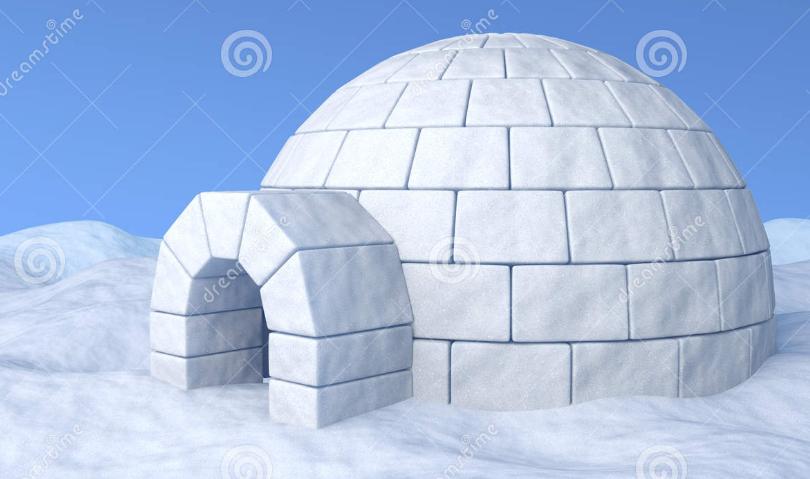apakah anda tahu tentang igloo atau yang diterjemahkan menjadi rumah dan dapat digunakan sebagai terdiri dari beberapa bahan