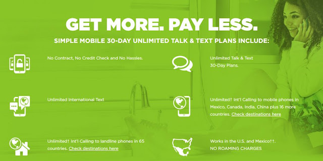 Simple Mobile Get More. Pay Less.