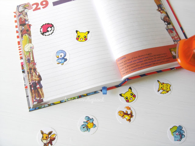 Pokémon stickers,Pokémon stickers zelf maken,pokémon plaatjes,pikachu sticker, agenda stickers, pokemon agenda