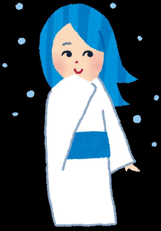 雪女のイラスト妖怪 かわいいフリー素材集 いらすとや