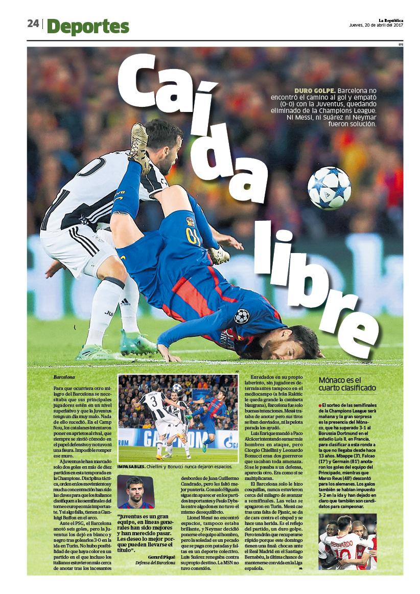 Las 5 mejores páginas diseñadas en Abril del diario La República ...