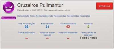 Reclame Aqui - Pullmantur Cruzeiros