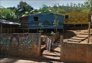 A Tekoa Pyau (Aldeia Nova) foi fundada em 1996. Foto: Google Earth