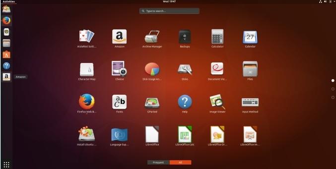 Ubuntu 17.0 code-named Artful Aardvark