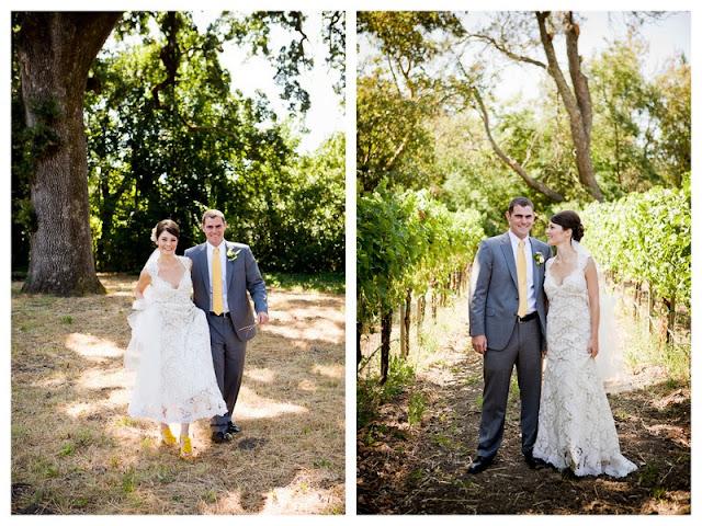 sunny sonoma vineyard wedding via oh lovely day | photo by Hendrickson Photography