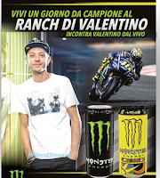 Logo Con Monster vinci t-shirt Valentino Rossi, caschi,cappellini e 1 soggiorno nel suo Ranch a Tavullia