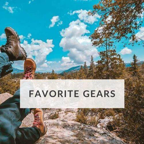 Gears for traveling, hiking and camping