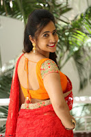 Lasya Cute Beauty in Saree Backless Choli at her Interview ~  Exclusive 066.JPG
