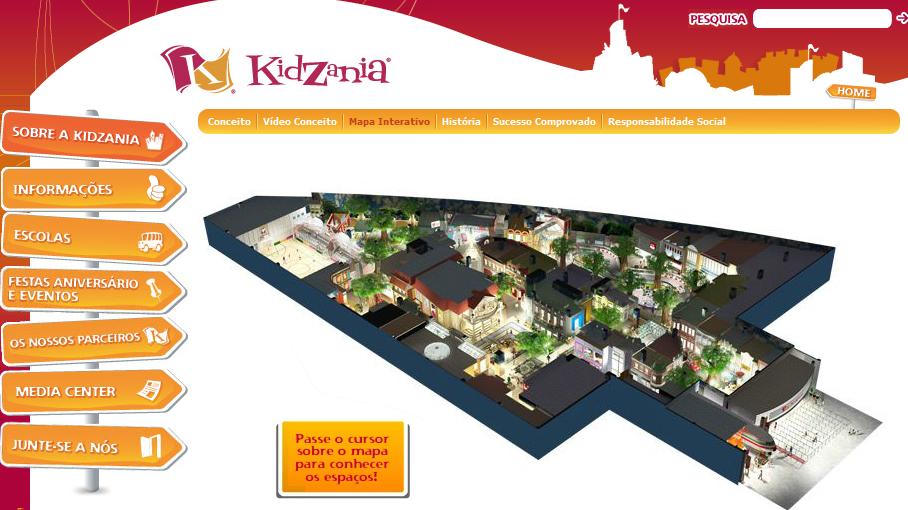kidzania lisboa mapa Produção de Conteúdos Multimédia: Fase II   Exemplos kidzania lisboa mapa