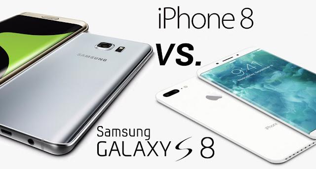 iPhone8 vs Samsung Galaxy S8