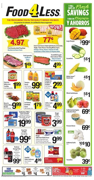 Food 4 Less Ad This Week August 7 - 13, 2019