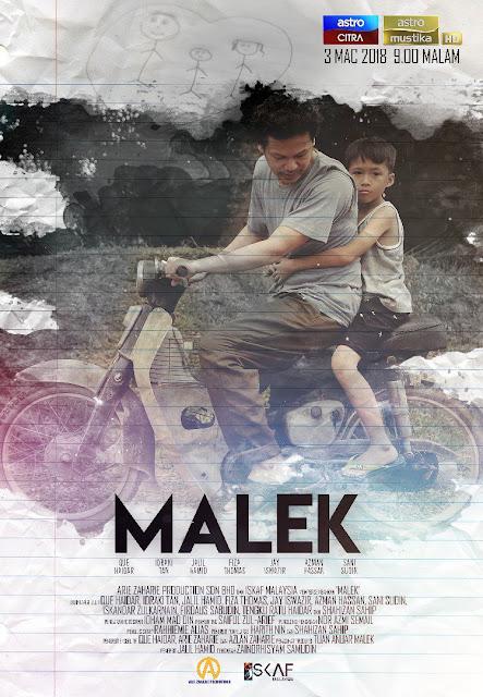 Telemovie Malek Lakonan Que Haidar, Idraki Tan, Jalil Hamid