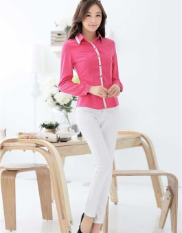 Model Kemeja Wanita Polos Lengan Panjang Terbaru