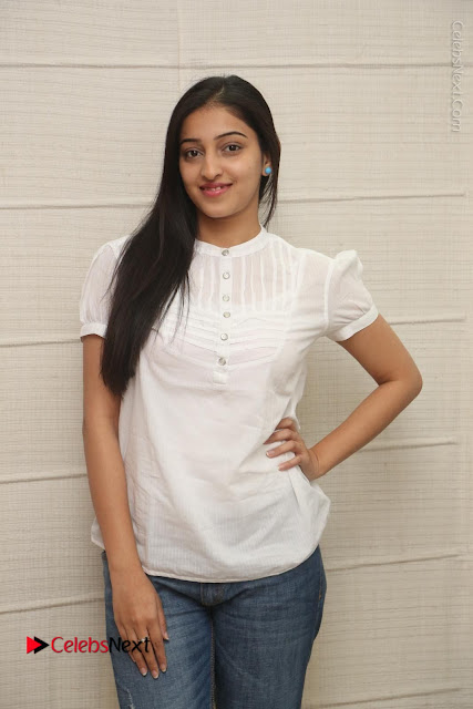 Tollywood Telugu Actress Mouryaani Latest Stills in Ripped Jeans at Intlo Deyyam Nakem Bhayam Movie Interview  0001.JPG