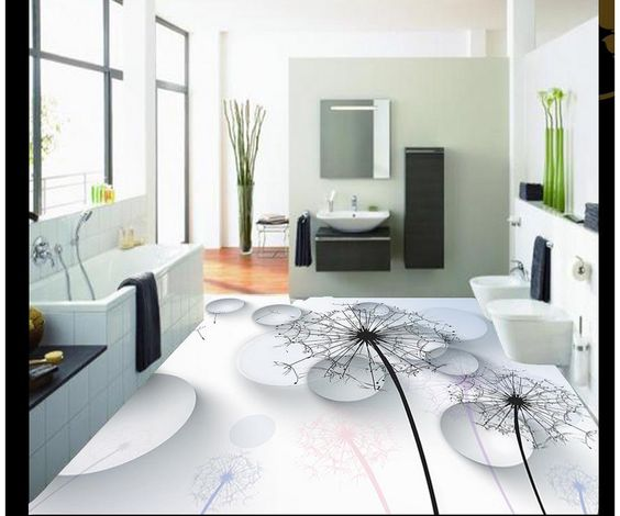 how to use 3d technology to decorate the bathroom