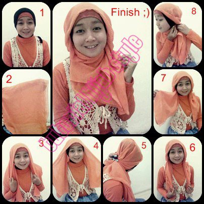 Tutorial Hijab Paris Dian Pelangi dan Segi Empat Video Youtube
