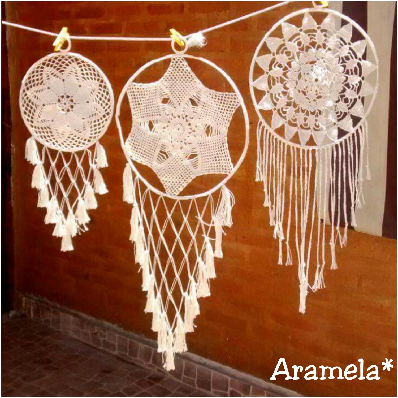 Aramela Artesanías: Cómo hacer mandalas o atrapasueños tejidos a ...
