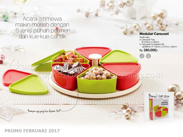 Modular Carousel Tupperware Promo Februari 2017