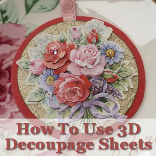 how do you do 3D decoupage paper craft activity tutorial instructions