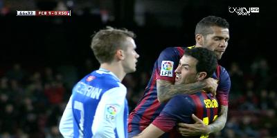 Copa Del Rey : Barcelona 2 vs 0 Real Sociedad 06-02-2014