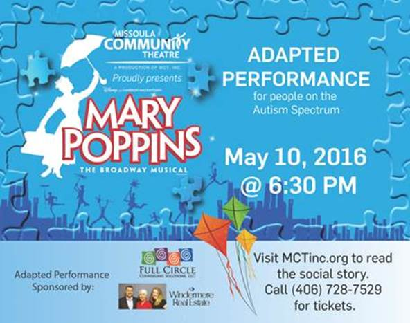 Self Scoring Autism Screen Overlooks >> Montana Autism Education Project Adapted Peformance Mary Poppins