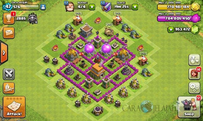 pertahanan terbaik untuk base war th 6 di clash of clans 3