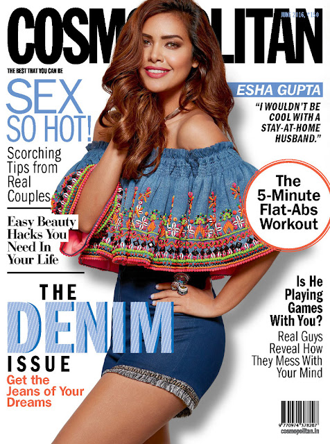 Actress, Model, @ Esha Gupta - Cosmopolitan India, June 2016