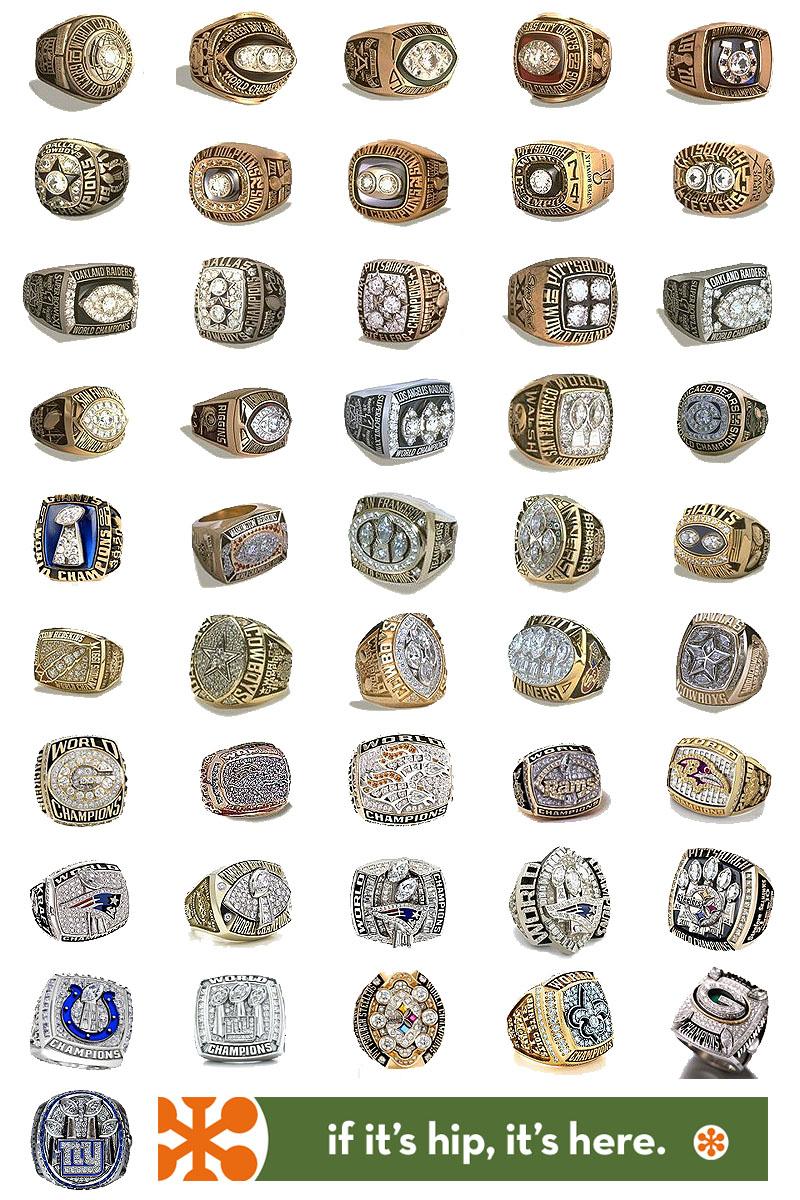 All 46 Superbowl Rings
