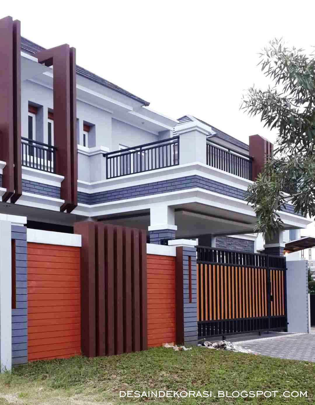 Gambar Pagar Rumah Coklat Desain Rumah