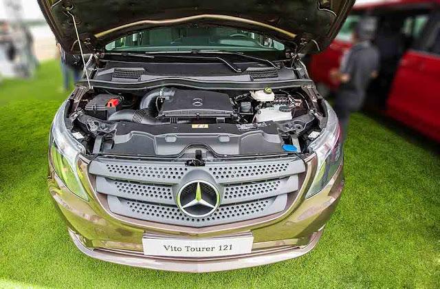 Động cơ Mercedes Vito Tourer 121 2018 vận hành mạnh mẽ và vượt trội