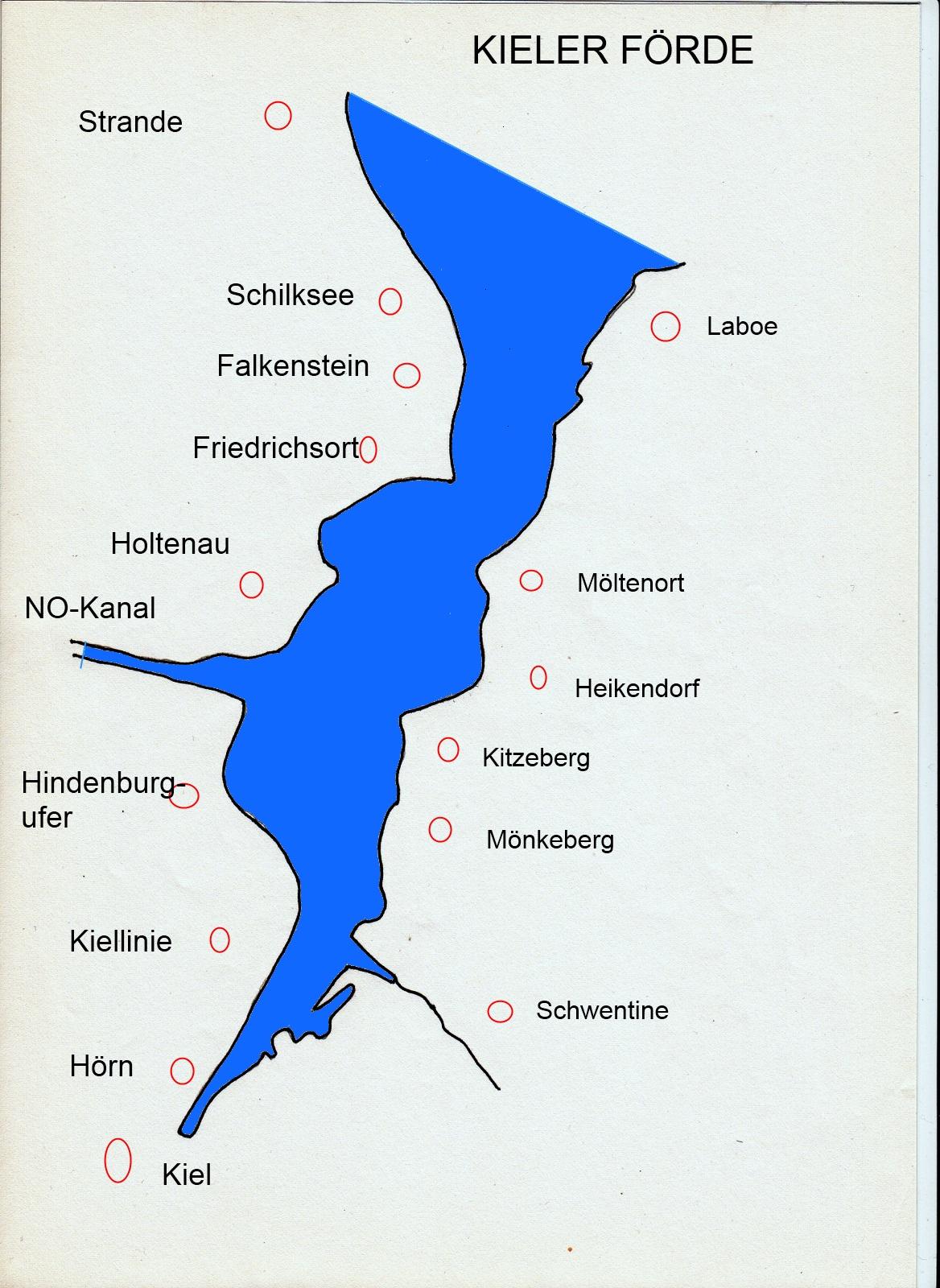 Kieler Förde Karte