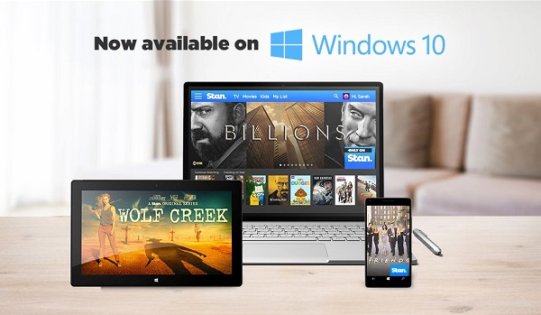 Video streaming service Stan launches Windows 10 (PC + Mobile) app