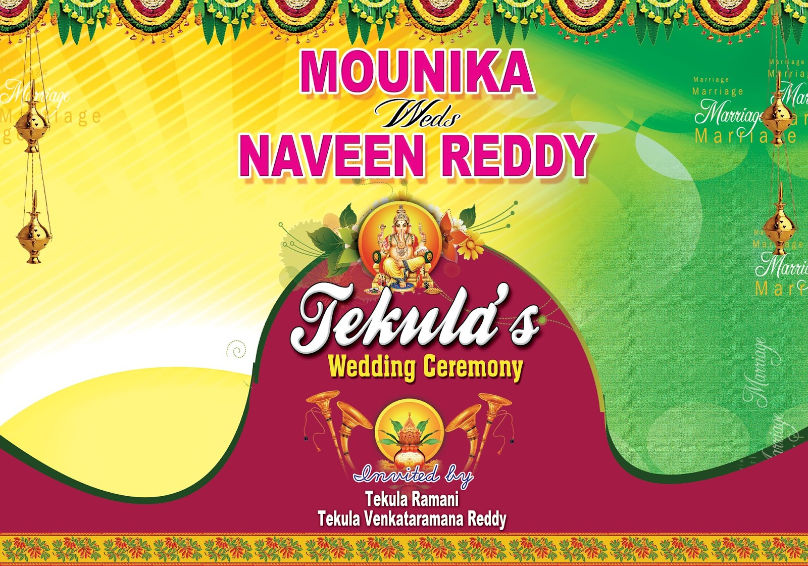 indian wedding flex banner design psd template free online