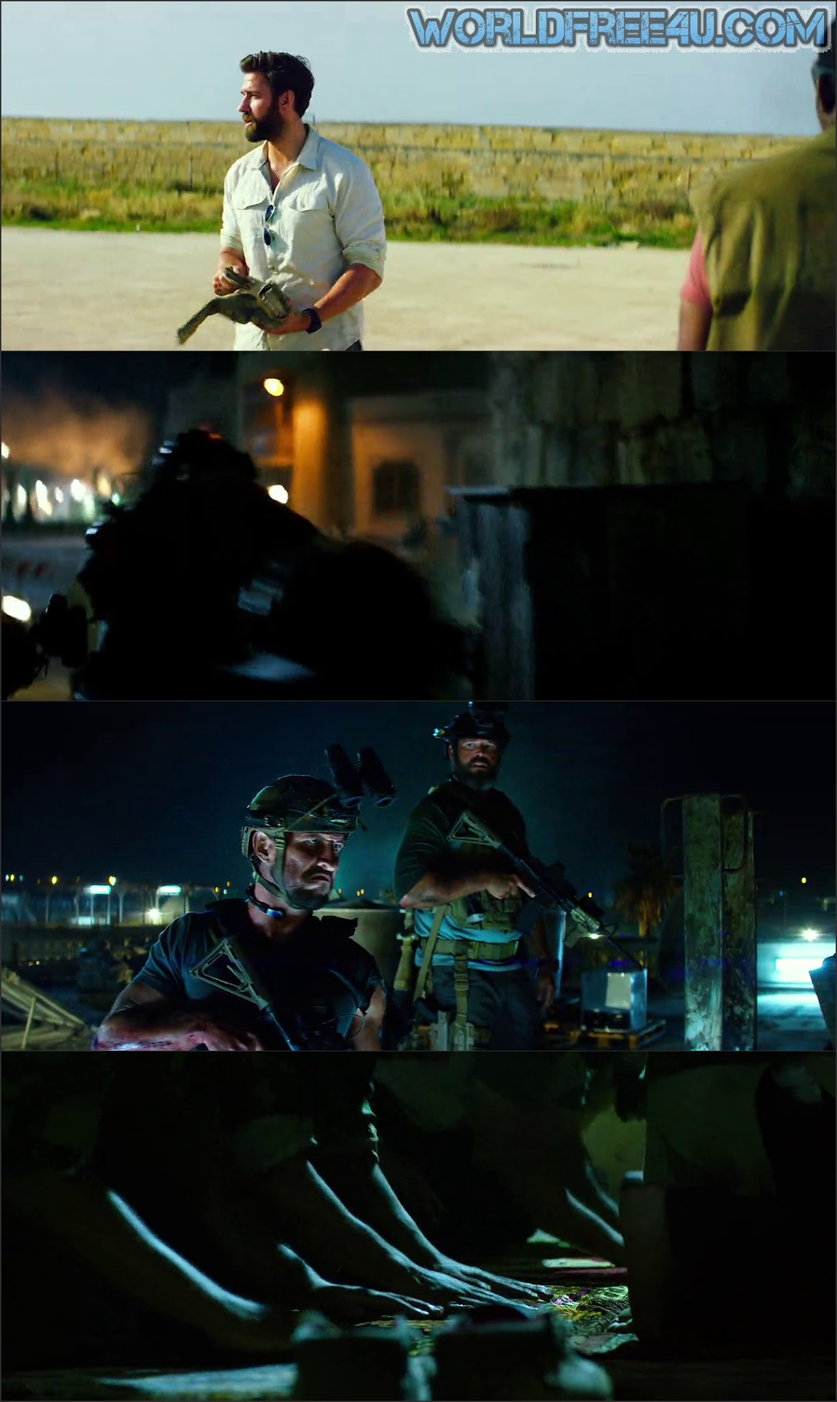 Screen Shot Of 13 Hours 2016 In Hindi English Dual Audio Bluray
