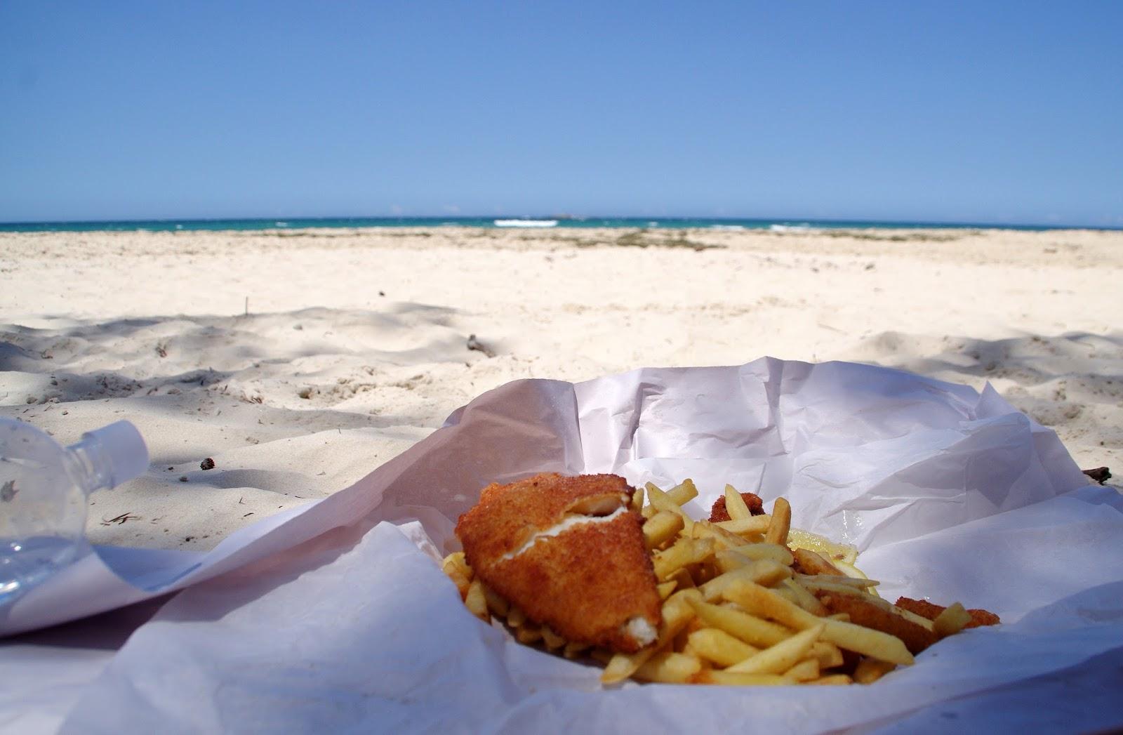 Fish and Chips at Beach