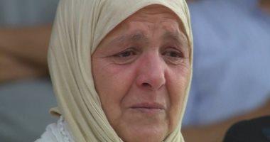 بكاء والدة لاعب  فريق نهضة بركان المغربي قبل انطلاق المبارة مع الفريق المصري البورسعيدي