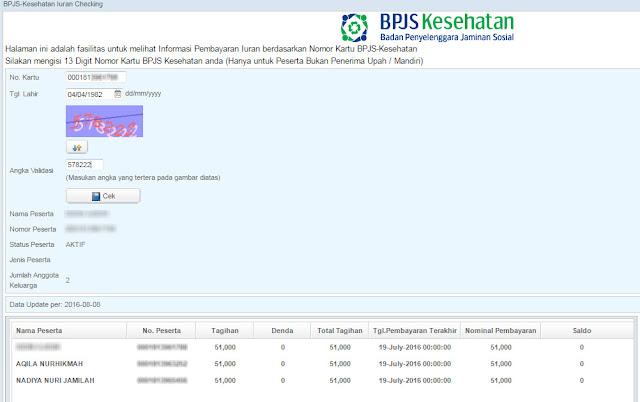 cek tagihan bpjs secara online