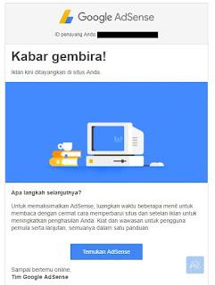 mendaftar Google Adsense pasti diterima - Adsense - iklan tayang