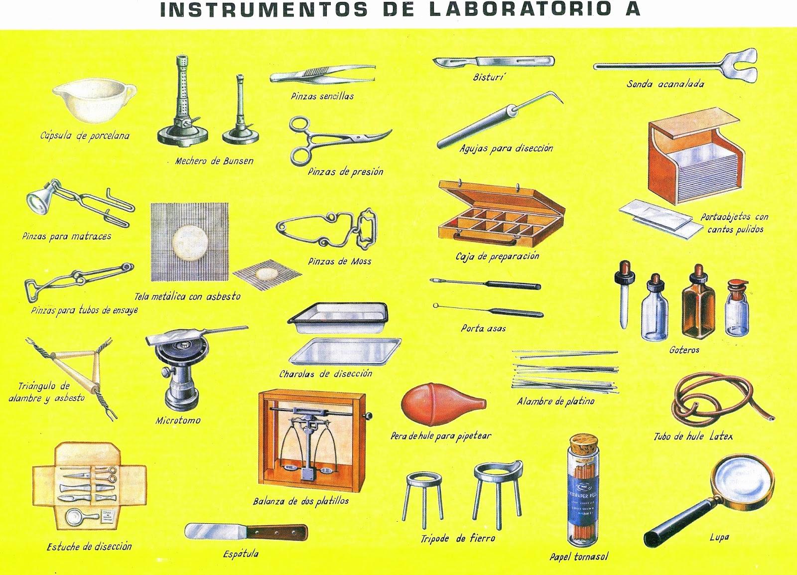 Los Materiales De Laboratorio Materiales Escolares