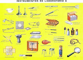 Instrumentos de laboratorio [Lámina escolar]