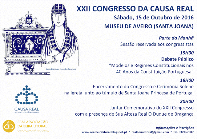 XXII CONGRESSO DA CAUSA REAL