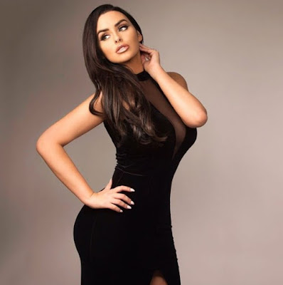 Abigail Ratchford in black dress